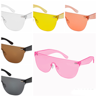 1 PIECE SHIELD SUNGLASSES ASSORTED COLORS, FUNKY
