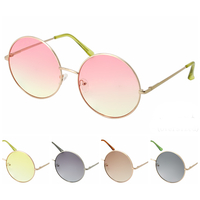 JANIS SIZE FLAT FRAMES SUNGLASSES IN ASSORTED LENS LOOKS