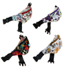 FLOWER PRINT FANNY PACKS IN ASSORTED COLORS, 3 ZIPPERS