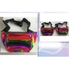 RAINBOW OIL SLICK LOOKING FANNY PACK