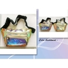 CLEAR/IRIDESCENT GOLD TRIM FANNY PACK