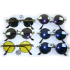STEAMPUNK LOOK ROUND FRAMES WITH ASSORTED LENSES, SPRING ON SIDE