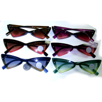 RETRO/MOD SHARP LOOKING FADING TRANSLCENT FRAMES SUNGLASSES