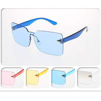 ASSORTED FUNKY FRONT WITH SAME COLOR ARMS SUNGLASSES
