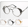 CLEAR LENS METAL SHIELD ROUND METAL SUNGLASSES