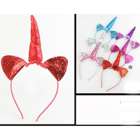 UNICORN HEADBAND ASST COLORS