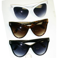 CAT SHAPE RETRO LARGE FRAMES WITH DARK LENS SUNGLASSES