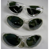 WRAP AROUND CLEAR FRAMES, MIRROR LENS GLASSES