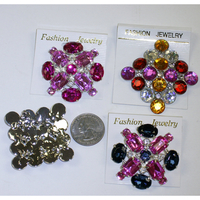 BROOCHES WITH ASSORTED COLORS GEMS AND DESIGN