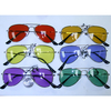 AVIATORS FRAMES SPRING TEMPLE,COLOR LENS SMALL FRAMES SUNGLASSES