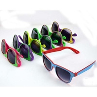BLUES BROTHERS FRAMES 2 BRIGHT COLORS, DARK LENS SUNGLASSES