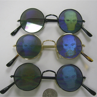 SKULL HOLOGRAM METAL FRAMES SUNGLASSES