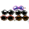 CAT RETRO SHAPE SUNGLASSES WITH RHINESTONE OUTLINE