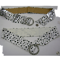 WHITE AND SILVER COLOR BELTS WITH DOTS, 80'S FASHION