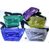 HOLOGRAPHIC IRIDESCENT CONFETTI LOOKING BRIGHT COLOR FANNY PACKS