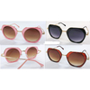 COOL SUNGLASSES, ROUNDISH LENS STRAIGHT TOP & BOTTOM, COOL