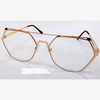 CLEAR LENS, GOLD METAL FRAMES COOL LOOK