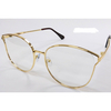 CLEAR LENS, GOLD METAL FRAMES GLASSES