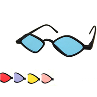 SMALL DIAMOND SHAPE FRAMES WITH COLOR LENSES, COOL...