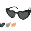 HEART SHAPE SUNGLASSES IN 4 GREAT LOOKING COLORS AND LENSES