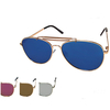 AVIATOR FLAT FRAMES MOSTLY REVO LENS SUNGLASSES 2 TOP BRIDGE