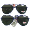 AVIATOR NAVY BLUE METAL FRAMES, DARK LENS SUNGLASSES