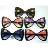 BOW TIE SHAPE LARGE SUNGLASSES, OCEAN LENS, BLACK FRAMES