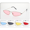 METAL FRAMES, COLOR LENS SMALL COOL LOOK SUNGLASSES