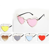 HEART SHAPE FRAMES SUNGLASSES WITH COLOR LENSES, DIFFERENT
