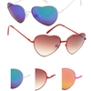 HEART METAL SHAPE FRAMES IN ASSORTED COLORS AND ASSORTED LENSES