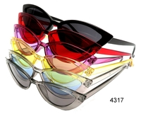 CAT SHAPE SUNGLASSES IN ASSORTED TRANSLUCENT AND COLOR LENS