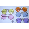 COOL ROUND COLOR LENSES ON THE FLAT SIDE SUNGLASSES