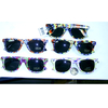 TYE DYE PRINTS BLUES BROTHERS STYLE SUNGLASSES, DARK LENS