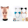 CAT EARS HEADBANDS IN 4 CLASSIC COLORS, GLITTER EFFECT