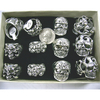 SKULL LARGE MENS RINGS IN A DISPLA BOX, ASST SIZES