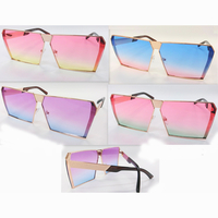 OCEAN LENS SHARP ANGLE, GOLD NETAL FRAMES SUNGLASSES