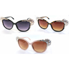 LARGE LADIES SUNGLASSES WITH DECORATIVE GEMSTONE CORNERS