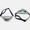 SILVER IRIDESCENT FANNY PACK 2 ZIPPER