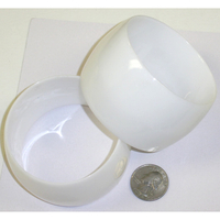 WHITE PLASTIC 1.7/8 INCH WIDE BANGLE BRACELET