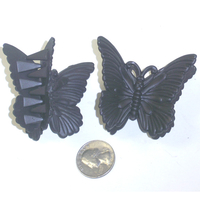BLACK BUTTERFLY HAIR CLIPS