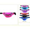 6 COLOR IRIDESCENT 3 ZIPPER FANNY PACKS