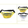 SILVER & GOLD IRIDESCENT COLOR 3 ZIPPER FANNY PACKS