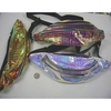IRIDESCENT COLORS REPTILE SKIN LOOK FANNY PACKS, 3 ZIPPERS