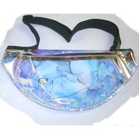 CLEAR/GOLDISH PVC 1 ZIPPER FANNY PACK