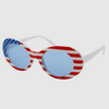 AMERICAN FLAG FRAMES JACKIE O LOOK STYLE WITH DARK AND REVO LENS