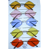 ODD SHAPE FRAMES, ASSORTED COLOR LENSES, LENNON FEEL, TOP BRIDGE