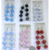 DICE EARRINGS, 4 DICE EACH DROP, 6 COLORS