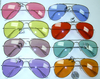 AVIATOR SUNGLASSES IN MANY  COLORS SILVER/GOLD FRAMES