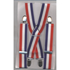 RED, WHITE & BLUE SUSPENDERS, 1 3/8 INCH WIDE, LIMITED STOCK