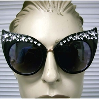LARGE CAT SHAPE FRAMES WITH SILVER STARSALONG TOP